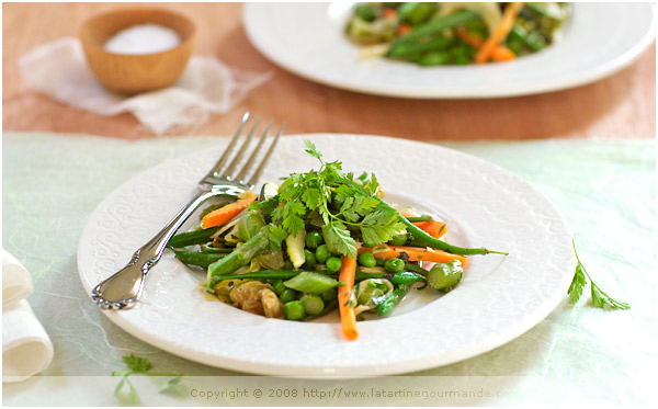 jardiniere legumes verts spring vegetable stew